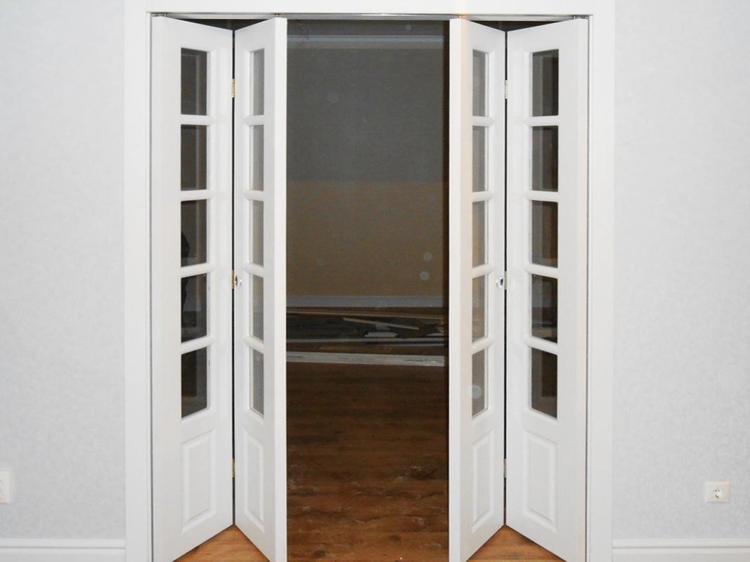купить межкомнатные двери гармошкой дверь книжка дорум